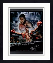 "Framed TYSON, MIKE FRMD AUTO ""BADDEST"" (INFOCUS) 20X24 LE50 #2-49 - Mounted Memories"