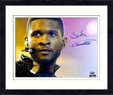 Framed Usher Raymond Autographed 11'' x 14'' Sweating Photograph