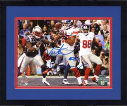 "Framed Victor Cruz New York Giants Super Bowl XLVI Champions Autographed 8"" x 10"" Horizontal Touchdown Photograph"