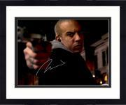 "Framed Vin Diesel Autographed 11"" x 14"" Pointing Gun Photograph - PSA/DNA"
