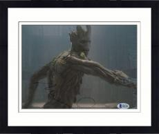 "Framed Vin Diesel Autographed 8"" x 10"" Guardians of The Galaxy Groot Photograph - Beckett COA"