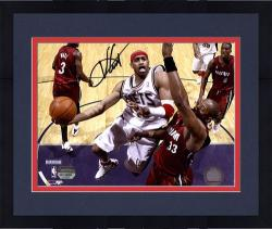 "Framed Vince Carter New Jersey Nets Autographed 8"" x 10"" Action Photograph"