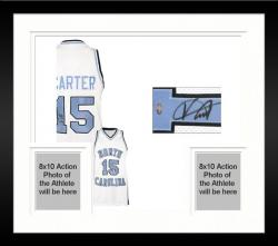 Framed Vince Carter North Carolina Tar Heels Autographed Jersey