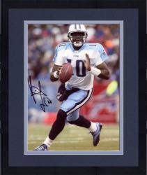 "Framed Vince Young Tennessee Titans Autographed 8"" x 10"" Ball In One Hand Photograph"