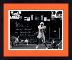 """Framed Vince Young Texas Longhorns Autographed 11"""" x 14"""" Spotlight Photograph with Multiple Inscriptions-#1 of a Limited Edition of 24"""