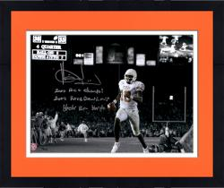 """Framed Vince Young Texas Longhorns Autographed 11"""" x 14"""" Spotlight Photograph with Multiple Inscriptions-#2-23 of a Limited Edition of 24"""