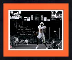 """Framed Vince Young Texas Longhorns Autographed 11"""" x 14"""" Spotlight Photograph with Multiple Inscriptions-#24 of a Limited Edition of 24"""