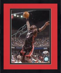 Framed Dwyane Wade Autographed Heat 8x10 Photo