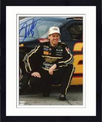 Framed WALLACE, RUSTY AUTO (MILLER LITE/SQUATING BY CAR) 8X10 PHOTO - Mounted Memories