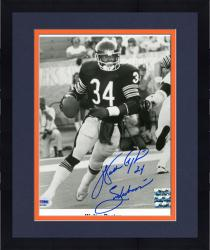 "Framed Walter Payton Chicago Bears Autographed 8"" x 10"" Action Photograph with ""Sweetness"" Inscription (PSA/DNA)"