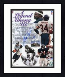 "Framed Walter Payton Chicago Bears Autographed 8"" x 10"" Legend Photograph  (PSA/DNA)"
