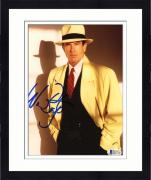 "Framed Warren Beatty Autographed 8""x 10"" Dick Tracy Wearing Yellow Coat Photograph - Beckett COA"