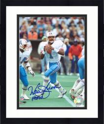 "Framed Warren Moon Houston Oilers Autographed 8"" x 10"" Drop Back Photograph with HOF 06 Inscription"
