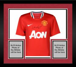 Framed Wayne Rooney Manchester United Autographed 2013-14 Home Jersey - Signed on Front