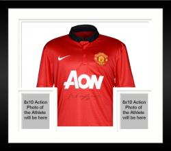 Framed Wayne Rooney Manchester United Autographed Red Home Front Jersey - Mounted Memories