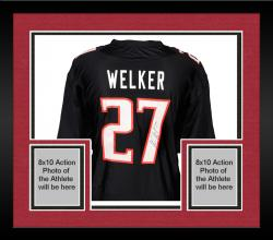 Framed Wes Welker Texas Tech Red Raiders Autographed Black Jersey