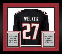 Framed Wes Welker Texas Tech Red Raiders Autographed Black Jersey with Guns Up! Inscription