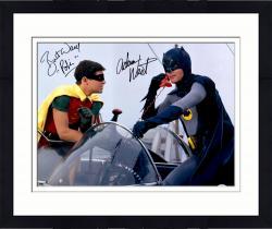 Framed Adam West & Burt Ward Autographed 16'' x 20'' Batman and Robin Photograph