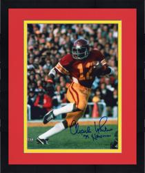 Framed Fanatics Authentic Autographed Charles White USC Trojans 8'' x 10'' Running Ball Photograph with 75 Heisman Inscription