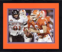 Framed Charlie Whitehurst Clemson Tigers Autographed 8'' x 10'' vs. Texas Tech Photograph