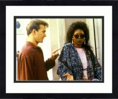 """Framed Whoopi Goldberg Autographed 11"""" x 14"""" with Patrick Swayze Photograph - PSA/DNA"""