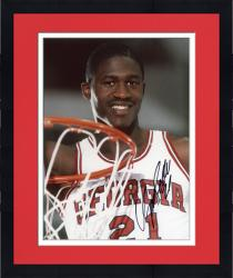 Framed Dominique Wilkins Autographed Georgia 8x10 Photo