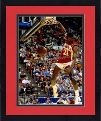 Framed Dominique Wilkins Atlanta Hawks Autographed 16'' x 20'' Ball Through Net Photograph