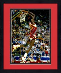 Framed Dominique Wilkins Atlanta Hawks Autographed 16'' x 20'' Reverse Dunk Photograph