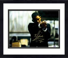 "Framed Will Smith Autographed 11"" x 14"" Men In Black Shooting Gun Photograph - PSA/DNA"