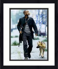 """Framed Will Smith Autographed 11""""x 14"""" I Am Legend Walking With Dog Photograph - PSA/DNA COA"""