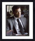"""Framed Will Smith Autographed 8""""x 10"""" Concussion Wearing Suit Photograph - Beckett COA"""