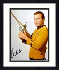 """Framed William Shatner Autographed 11"""" x 14"""" Star Trek Holding Phaser Photograph - Beckett COA"""