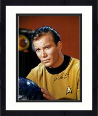 "Framed William Shatner Autographed 16"" x 20"" Star Trek Posing Photograph - Beckett COA"
