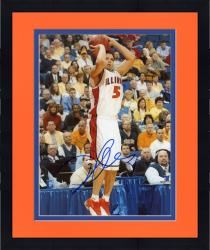 Framed Deron Williams Autographed Illinois 8x10 Photo