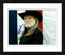 Framed Willie Nelson Autographed 11'' x 14'' Red White Blue Photograph