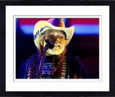 Framed Willie Nelson Autographed 11'' x 14'' Farm Aid Hat Photograph