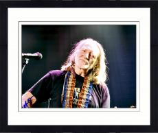 Framed Willie Nelson Autographed 11'' x 14'' No Hat Scarf Photograph