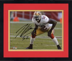 Framed Patrick Willis San Francisco 49ers Autographed 8'' x 10'' Hands On Knees Photograph