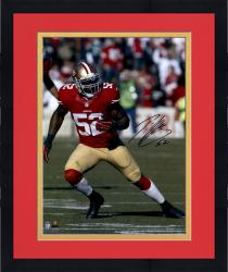 Framed Patrick Willis San Francisco 49ers Autographed 16'' x 20'' Vertical Running Photograph