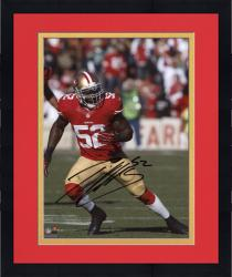 Framed Patrick Willis San Francisco 49ers Autographed 8'' x 10'' Vertical Running Photograph