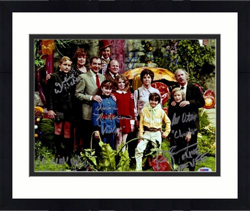 "Framed Willy Wonka and the Chocolate Factory Autographed 11"" x 14"" Cast Photograph - PSA/DNA COA"