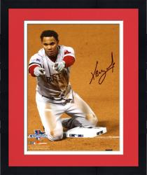 "Framed Xander Bogaerts Boston Red Sox Autographed 8"" x 10"" Knee on Base Photograph"