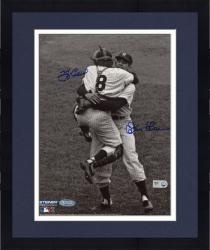 "Framed Yogi Berra & Don Larsen New York Yankees Autographed 8"" x 10"" B&W Hug Photograph"