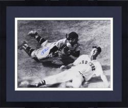 "Framed Yogi Berra New York Yankees Autographed 16"" x 20"" Slide with Ted Williams Photograph"