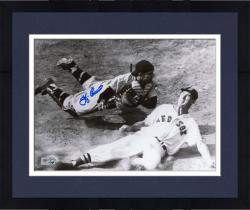"Framed Yogi Berra New York Yankees Autographed 8"" x 10"" Catcher Photograph"