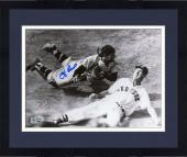 Framed Yogi Berra New York Yankees Autographed 8'' x 10'' Catcher Photograph