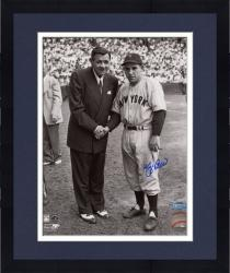 Framed Yogi Berra New York Yankees Autographed 8'' x 10'' Photograph with Babe Ruth