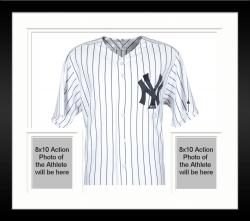 Framed Yogi Berra New York Yankees Autographed Authentic Jersey