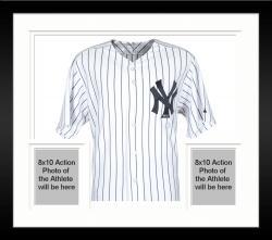 Framed Yogi Berra New York Yankees Autographed Authentic Jersey