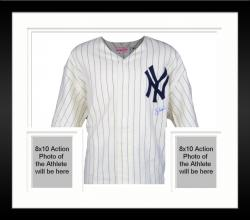 Framed Yogi Berra New York Yankees Autographed Mitchell & Ness Home Jersey